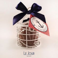 Lembrancinha Navy: Marshmallow coberto com Chocolate ao Leite