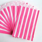 Image of Hot Pink Striped Middy Bitty Bags