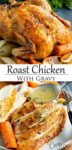 Whole Chicken In Oven, Whole Chicken Recipes Oven, Perfect Roast Chicken, Whole Roasted Chicken, Roast Chicken Recipes, Chicken Gravy, Stuffed Whole Chicken, Turkey Recipes, Crispy Roasted Chicken