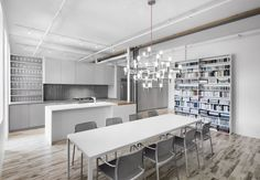 Silver, white, grays and light brown space. | Espace St-Dominique by Anne Sophie Goneau
