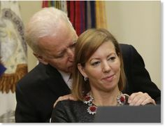 He really seems to be using his position of power to take advantage of this poor woman. It's reminiscent of how psychopaths are drawn to positions of power like doctors, lawyers, and politicians because it affords them the opportunity to have power over others and exploit that power. One thing is for sure, this is entirely inappropriate behavior for a vice president and to be doing it right in front of the woman's husband just smacks of a display of power.