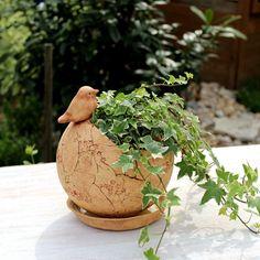 skořepina s ptáčkem Planter Pots, Creta