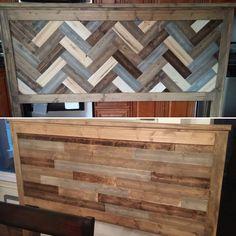 reclaimed wood look headboard king size diy projects - Diy Kingsizekopfteil Plne