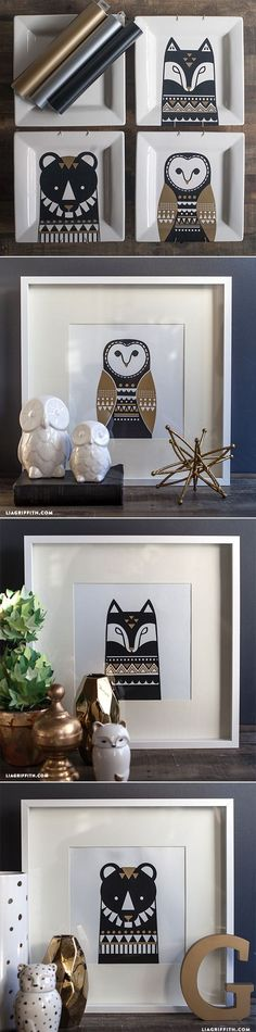 Scandinavian Inspired Animal Art #Design
