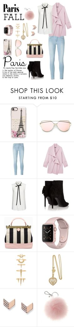 """""""Untitled #557"""" by klarisadevill ❤ liked on Polyvore featuring Casetify, Frame Denim, Vince, Yves Saint Laurent, Tammy & Benjamin, Luv Aj and FOSSIL"""