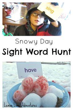 Snowy Sight Word Hunt