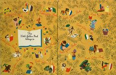 end papers of a golden book - takes me back!