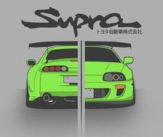 Toyota Supra by erithdorPL.deviantart.com on @DeviantArt