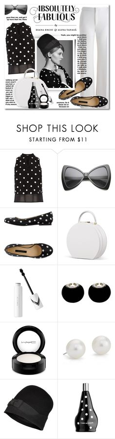 """""""Monochrome"""" by petri5 ❤ liked on Polyvore featuring Coast, Del Gatto, David Webb, MAC Cosmetics, Blue Nile, Dsquared2 and Comme des Garçons"""