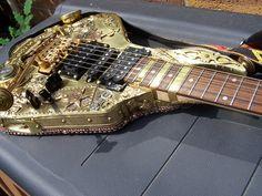 Steampunk guitar by Tom Bingham Corby