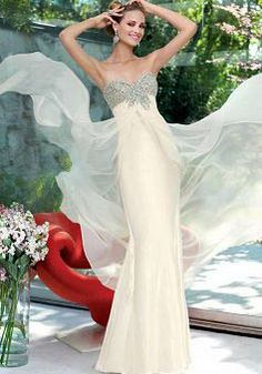 Floor Length Chiffon Sweetheart Empire Mermaid Dresses For Prom - Lunadress.co.uk