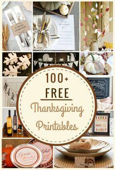 100 Free Thanksgiving Printables