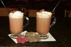 Warm Up with the Boozy Chocolate Raspberry Mocha: Raspberry, chocolate and coffee, oh my! Enjoy the delicious Chocolate Raspberry Mocha, it is spiked coffee cocoa at its best. Alcoholic Cocktails, Coffee Cocktails, Chocolate Cocktails, Raspberry Liqueur, Cocktail Desserts, Coffee Theme, Chocolate Shavings, Delicious Chocolate, Coffee Recipes