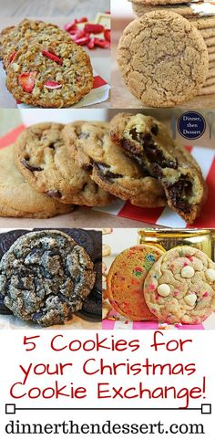 5 Epic Christmas Cookie Recipes that will leave your Cookie Exchange friends clamoring for recipes including my awesome Oreo Chunk Cookies, Legendary Jacques Torres Chocolate Chip Cookies, Award Winning Gingerbread Cookies, Strawberry White Chocolate Oatmeal Cookies and Vanilla Cake Cookies!