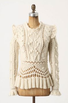 Bobbled Cableknit Sweater