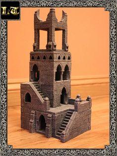 terrain warhammer hirst arts tower forge dwarven gaming minecraft fantasy building diorama multi level castle wargaming game 40k dioramas role