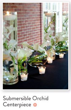 Submersible Orchid Wedding Centerpiece