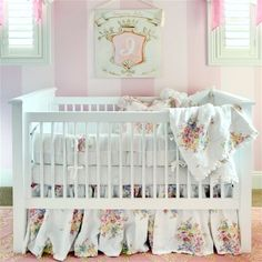 """A crib fit for a princess! Layla Grayce on Bella Notte Bedding for """"Project Nursery"""""""