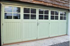 Show Details For Garage Bi Fold Doors Tgv Glazed 4 Panes Folding Garage Doors Wooden Garage Doors Garage Doors