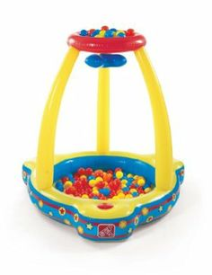 Step2 Catch And Play Ball Pit by Step2. $28.98. Includes 20-piece ball set. Sturdy side seats. Large ball pit area. Features a motorized rotating ball deflector. From the Manufacturer                Inflatable fun for active minds and bodies alike. Features a motorized rotating ball deflector, large ball pit area and sturdy side seats. Includes 20-piece ball set.                                    Product Description                The Step2 Catch and Play Ball Pit is an...