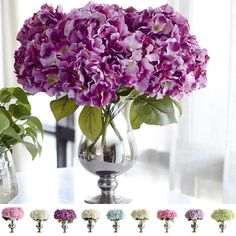 Artificial Flowers Bouquets Bridal Decor Decorative Flowers Silk Hydrangea HOT. Name: Artificial Flowers. 1 Artificial Flower. Application: Home creative decoration, furnishings, craft ornaments, floral decoration. | eBay!