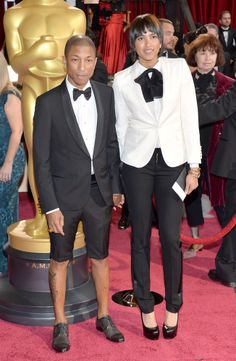 No no no no no never no, not at the Oscars, Dears. Save this stuff for the Grammys or someplace more casual where you need street cred. This just gets you tacky cred.   Oscars 2014 Red Carpet: All The Dresses At The Academy Awards (PHOTOS, VIDEOS)