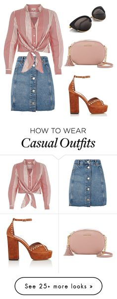 """Casual #1"" by graces0110 on Polyvore featuring Topshop, River Island, Tabitha Simmons and MICHAEL Michael Kors"