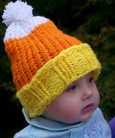 Candy Corn cap from loomlady.blogspot.com