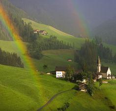 Double rainbow in Austria