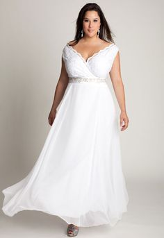 plus size wedding dresses | ... gallery related to Simple Plus Size Wedding Dresses with V-Necked
