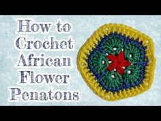"""Crochet African Flower """"Pentagon"""" Video tutorial by Jo's Crocheteria - YouTube"""