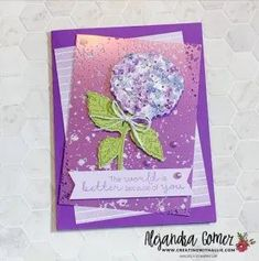 Learn how to make three easy cards using the Hydrangea Hill Suite from Stampin' Up! Diy Paper, Paper Crafts, Easy Cards, Heartfelt Creations, Hydrangea, Stampin Up, Craft Supplies, Card Ideas, Third