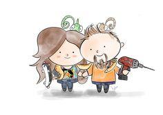 Páros illusztráció rendelése - Gallay-Nagy Krisztina grafikus, illusztrátor Paros, Hobbit, Fictional Characters, Fantasy Characters, The Hobbit