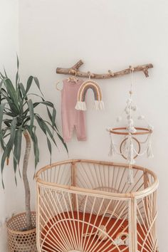 99 Make your nursery feel like home for your new mini with this soft cotton macrame mobile Featuring organic cotton pom pom and tassel accents a rattan ring and is all of course handmade with care in