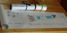 Make and Write a Story Roll - Re-pinned by #PediaStaff. Visit http://ht.ly/63sNt for all our pediatric therapy pins