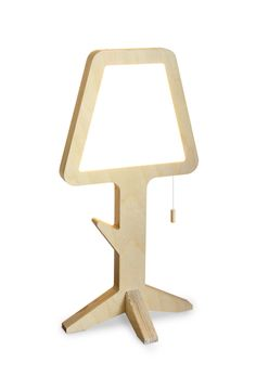 """La Flaca S"", the skinny lamp, is a table lamp with only 3cm thin body. The body has a small rack useful for hand jewelry or accessories. The thickness of the body, only 3cm, allows us to place the lamp anywhere. The light is powered by LEDs that combined with a matt Plexiglas panel diffuses [...]"