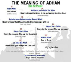 Meaning of Adhan