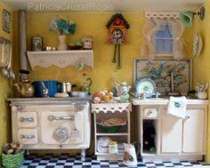 Interior Cocina con Miniaturas heha por encargo