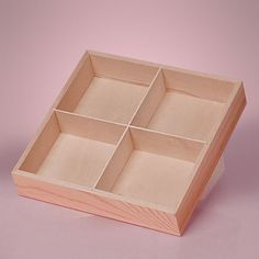 NEW 4 Section Divided Wood Tray Box Unfinished Pine Wood Square x x Deep storage shadowbox display Center is removable & NEW MEDIUM 5 Section Wood Tray Box Unfinished Pine Wood Square 10 ... Aboutintivar.Com