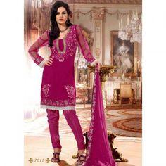 Charming Pink Unstitched Suit