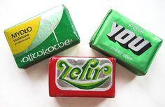 Vintage Polish soap packaging Savon Soap, Soaps, Soap Packaging, Quote Posters, Bar Soap, Childhood Memories, Polish, Branding, Vintage