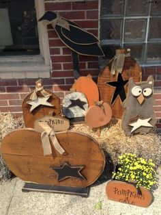 Image easy primitive fall crafts hosted in Life Trends 1 Primitive Fall Crafts, Fall Wood Crafts, Autumn Crafts, Wooden Crafts, Diy Crafts, Primitive Christmas, Primitive Signs, Primitive Decor, Country Christmas