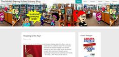 The MHMS Daring School Library Blog. A great example of a middle school library blog by Gwyneth Jones in the USA.