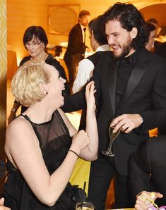 Gwendoline Christie Kit Harington HBO's Official 2018 Golden Globe Awards After Party