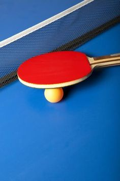 Photographic Print: Table Tennis or Ping Pong Rackets and Balls on a Blue Table by Andreyuu : Best Ping Pong Table, Outdoor Ping Pong Table, Ping Pong Lights, Ping Pong Paddles, Tennis Wallpaper, Ping Pong Games, Tennis Photography, Table Tennis Racket, Racquet Sports