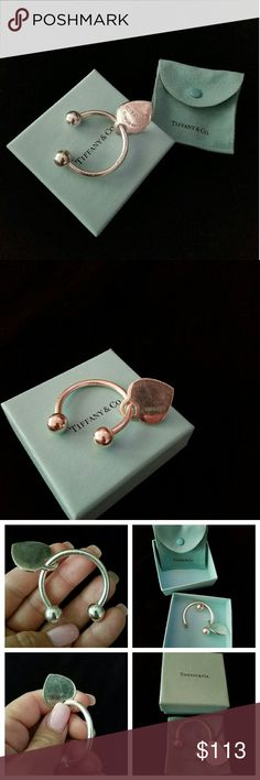 f558ec0ce22 Tiffany Key Ring Authentic Return to tiffany heart key ring.comes with  everything pictured.