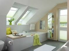 Image result for bathroom with sloped ceiling