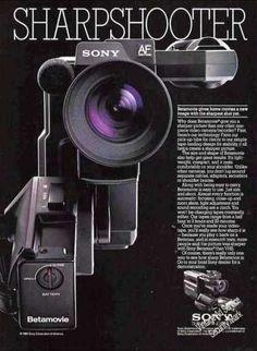 Sony Betamovie Camera Photos Betamax (1984)  Pretty Sleek!