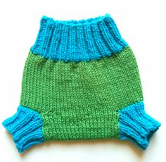Knit Wool Soaker. I really like these colors, and the long leg-bands.