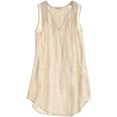 Calypso St. Barth Aida Linen V-neck Top ($99) ❤ liked on Polyvore featuring tops, shirts, tanks, tank tops, blouses, sleeve less shirts, pink sleeveless shirt, linen shirt, v neck shirts and v neck tank